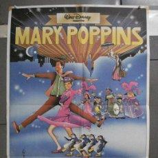 Cine: CDO 6380 MARY POPPINS JULIE ANDREWS WALT DISNEY POSTER ORIGINAL 70X100 ESPAÑOL R-80S. Lote 221823958