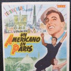 Cine: AMERICAN IN PARIS SPANISH HERALD '51 DIFFERENT ART OF GENE KELLY DANCING WSEXY LESLIE CARON!. Lote 221835943