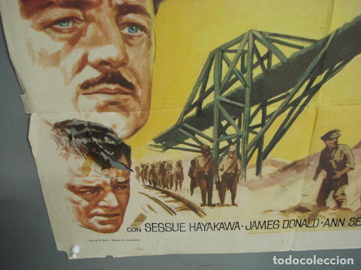 Cine: CDO 6392 EL PUENTE SOBRE EL RIO KWAI DAVID LEAN ALEC GUINNESS WILLIAM HOLDEN JANO POSTER 70X100 R-71 - Foto 5 - 221905550