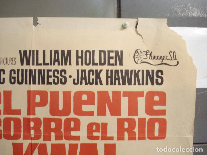 Cine: CDO 6392 EL PUENTE SOBRE EL RIO KWAI DAVID LEAN ALEC GUINNESS WILLIAM HOLDEN JANO POSTER 70X100 R-71 - Foto 6 - 221905550