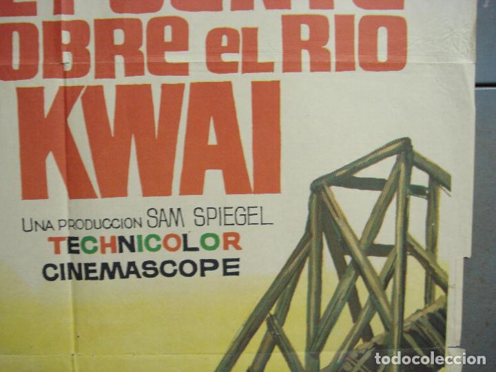 Cine: CDO 6392 EL PUENTE SOBRE EL RIO KWAI DAVID LEAN ALEC GUINNESS WILLIAM HOLDEN JANO POSTER 70X100 R-71 - Foto 7 - 221905550