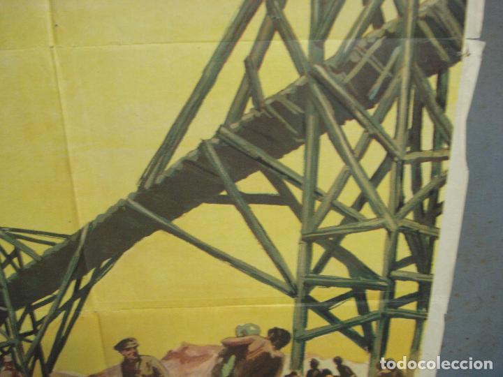 Cine: CDO 6392 EL PUENTE SOBRE EL RIO KWAI DAVID LEAN ALEC GUINNESS WILLIAM HOLDEN JANO POSTER 70X100 R-71 - Foto 8 - 221905550
