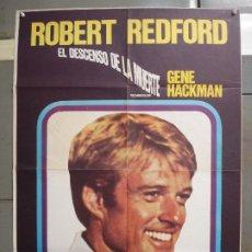 Cine: CDO 6396 EL DESCENSO DE LA MUERTE ROBERT REDFORD GENE HACKMAN SKI POSTER ORIGINAL 70X100 ESTRENO. Lote 221911816
