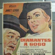 Cine: CDO 6420 DIAMANTES A GOGO JANET LEIGH ROBERT HOFFMAN KLAUS KINSKI POSTER ORIGINAL ESTRENO 70X100. Lote 221922256