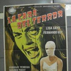 Cine: CDO 6424 LA CARA DEL TERROR LISA GAYE FERNANDO REY POSTER ORIGINAL 70X100 ESTRENO. Lote 221924700