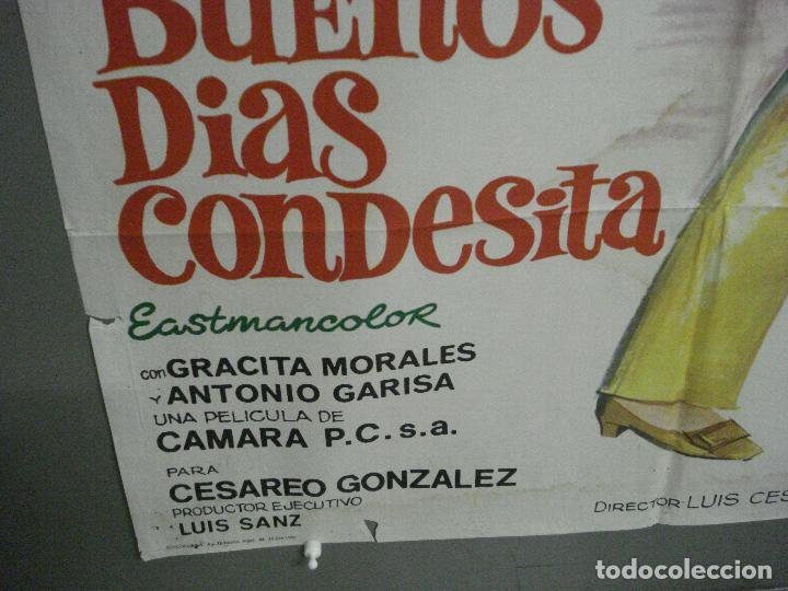 Cine: CDO 6425 BUENOS DIAS CONDESITA ROCIO DURCAL VICENTE PARRA JANO POSTER ORIGINAL ESTRENO 70X100 - Foto 5 - 221926077