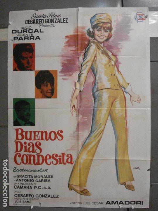 CDO 6425 BUENOS DIAS CONDESITA ROCIO DURCAL VICENTE PARRA JANO POSTER ORIGINAL ESTRENO 70X100 (Cine - Posters y Carteles - Clasico Español)