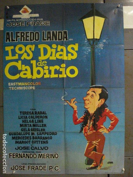 CDO 6430 LOS DIAS DE CABIRIO ALFREDO LANDA JANO POSTER ORIGINAL 70X100 ESTRENO (Cine - Posters y Carteles - Clasico Español)