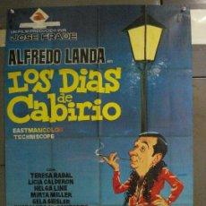 Cine: CDO 6430 LOS DIAS DE CABIRIO ALFREDO LANDA JANO POSTER ORIGINAL 70X100 ESTRENO. Lote 221930395