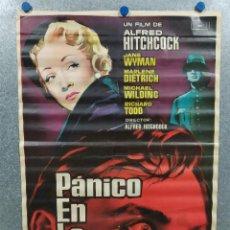 Cine: PANICO EN LA ESCENA. ALFRED HITCHCOCK, MARLENE DIETRICH. AÑO 1961. POSTER ORIGINAL. Lote 221939522
