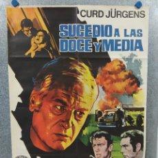 Cine: SUCEDIÓ A LAS DOCE Y MEDIA. CURD JÜRGENS, HEINZ REINCKE. AÑO 1970. POSTER ORIGINAL. Lote 221941327