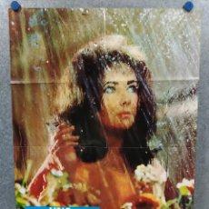 Cine: UNA HORA EN LA NOCHE. ELIZABETH TAYLOR, LAURENCE HARVEY. AÑO 1973. POSTER ORIGINAL. Lote 221945903