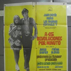 Cine: CDO 6442 A 45 REVOLUCIONES POR MINUTO JUAN PARDO FORMULA V IVANA LOS ANGELES POSTER ESTRENO 70X100. Lote 221948406