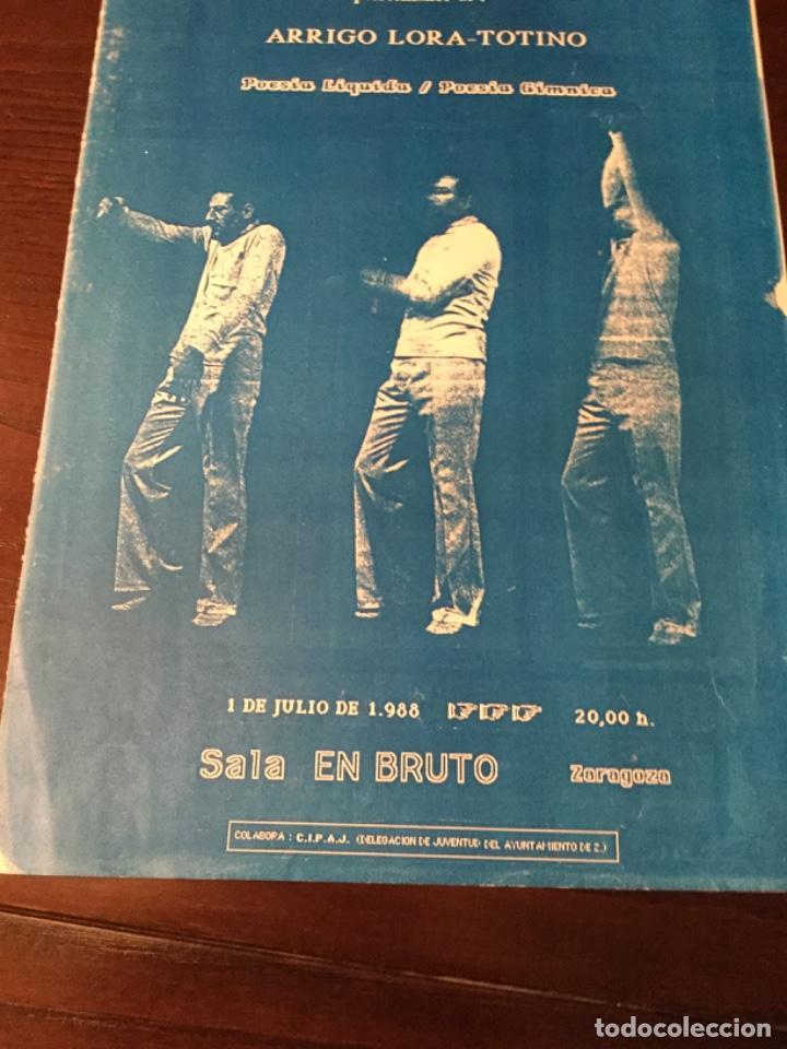 CARTEL SALA DE ACTUACCIONES ARRIGO LORA- TOTINO, 1988, SALA EN BRUTO, ZARAGOZA. (Cine - Posters y Carteles - Acción)