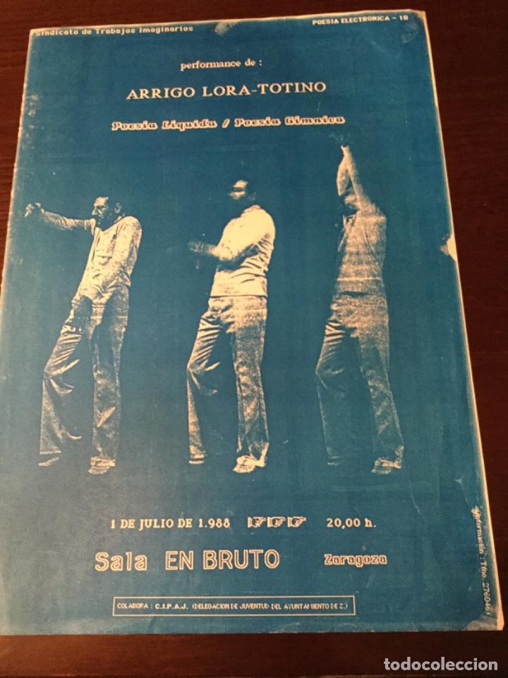 Cine: Cartel Sala de Actuacciones Arrigo lora- Totino, 1988, sala en Bruto, Zaragoza. - Foto 2 - 221955068