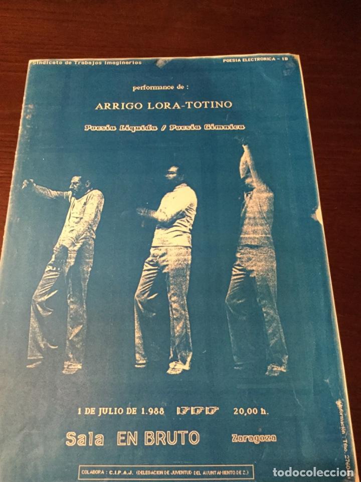 Cine: Cartel Sala de Actuacciones Arrigo lora- Totino, 1988, sala en Bruto, Zaragoza. - Foto 3 - 221955068
