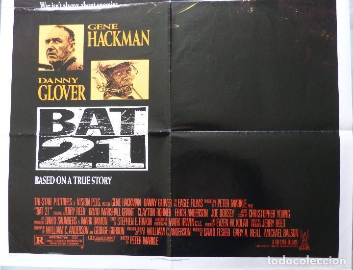 "Cine: Póster de película BAT 21, 41 ""x 27"" pulgadas, 1988, Gene Hackman, Danny Glover, TriStar Pictures - Foto 2 - 221957635"