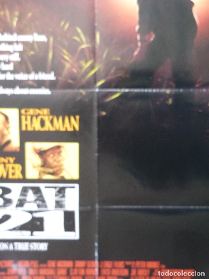 "Cine: Póster de película BAT 21, 41 ""x 27"" pulgadas, 1988, Gene Hackman, Danny Glover, TriStar Pictures - Foto 3 - 221957635"