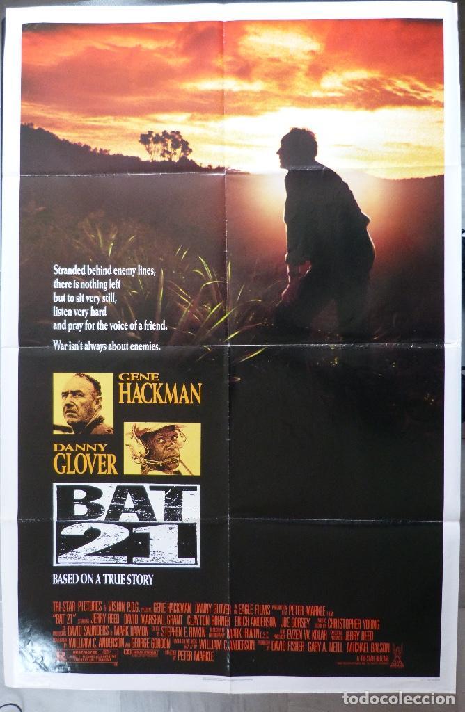 "Cine: Póster de película BAT 21, 41 ""x 27"" pulgadas, 1988, Gene Hackman, Danny Glover, TriStar Pictures - Foto 6 - 221957635"
