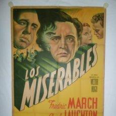 Cine: LOS MISERABLES - 110 X 75 - 1935 - LITOGRAFICO. Lote 221990402