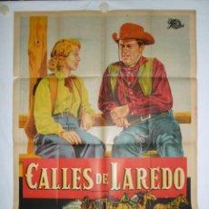Cine: CALLES DE LAREDO - 110 X 75 - 1949 - LITOGRAFICO. Lote 221990568