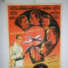 Cine: PASAJERO SIN DESTINO - 110 X 75 - 1957 - LITOGRAFICO. Lote 221990865