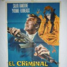 Cine: EL CRIMINAL - 110 X 75 - 1960 - LITOGRAFICO. Lote 221990905