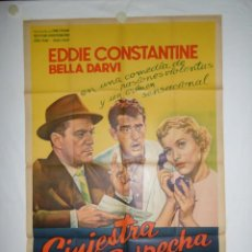 Cine: SINIESTRA SOSPECHA - 110 X 75 - 1955 - LITOGRAFICO. Lote 221991176