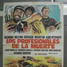 Cine: CDO 6458 LOS PROFESIONALES DE LA MUERTE GEORGE MARTIN HILTON SPAGHETTI POSTER ORIG ESTRENO 70X100. Lote 222040345