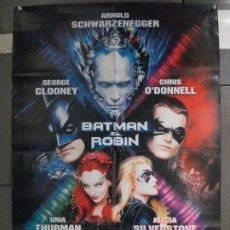 Cine: CDO 6468 BATMAN Y ROBIN GEORGE CLOONEY ARNOLD SCHWARZENEGGER POSTER ORIGINAL 70X100 ESTRENO. Lote 222045920