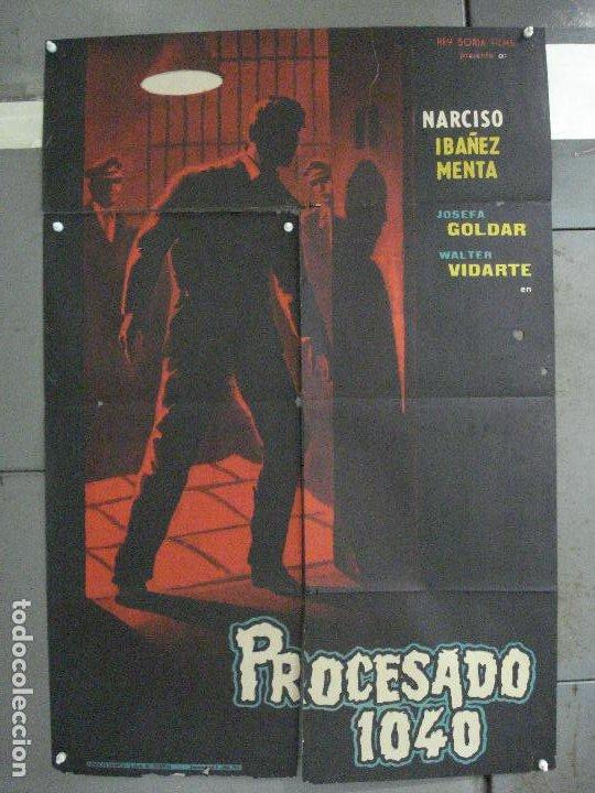 CDO 6472 PROCESADO 1040 NARCISO IBAÑEZ MENTA WALTER VIDARTE POSTER ORIGINAL 70X100 ESTRENO (Cine - Posters y Carteles - Clasico Español)