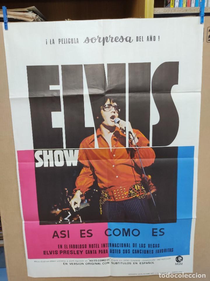 ELVIS- SHOW ASÍ ES COMO ES ELVIS PRESLEY , AÑO 1971 POSTER ORIGINAL (Cine - Posters y Carteles - Musicales)