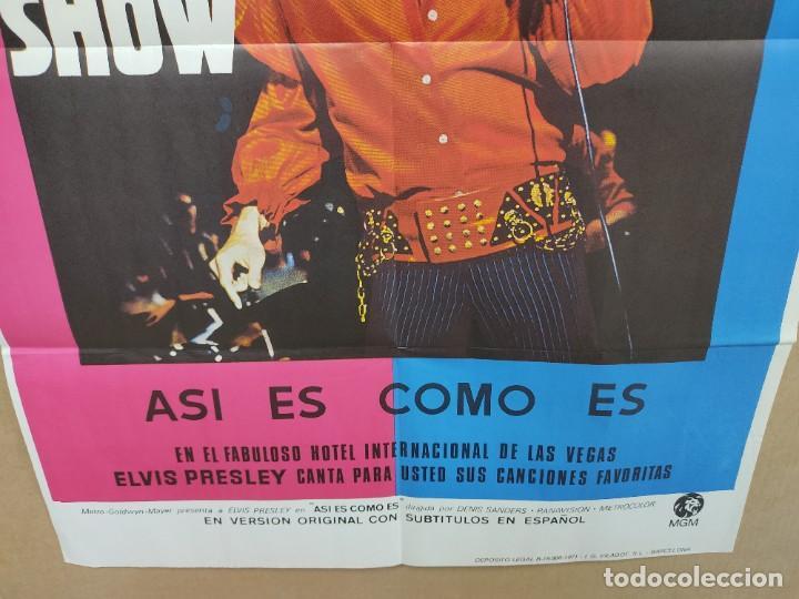 Cine: ELVIS- SHOW ASÍ ES COMO ES ELVIS PRESLEY , AÑO 1971 POSTER ORIGINAL - Foto 3 - 222047985