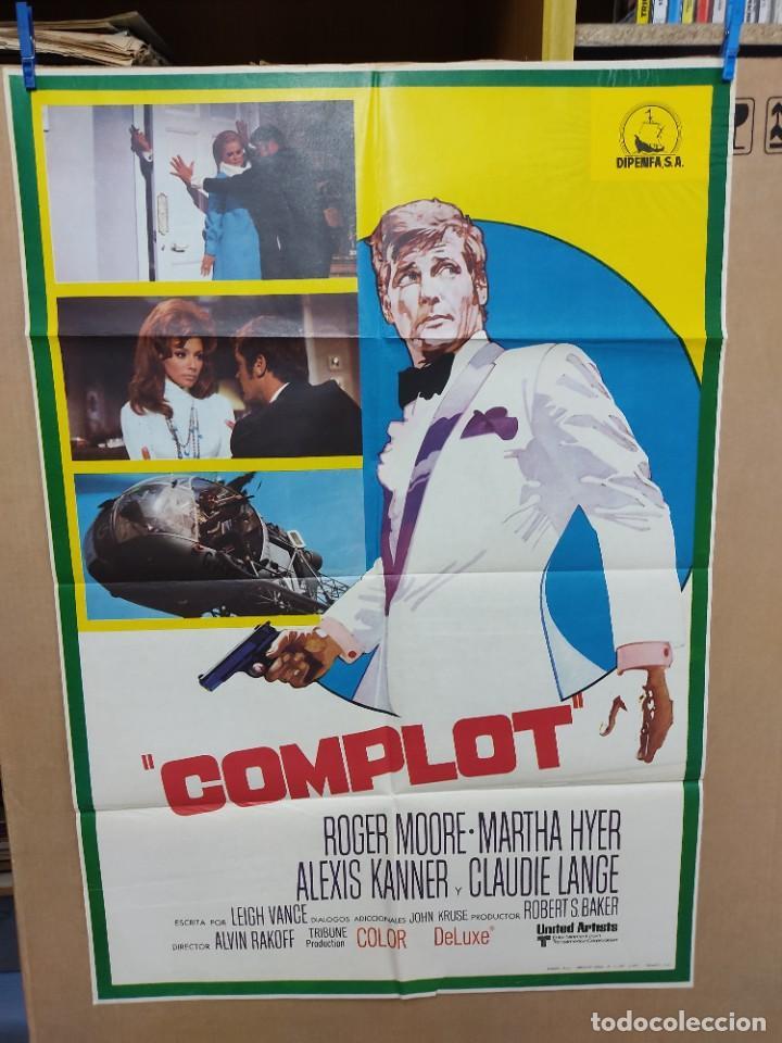 COMPLOT-15 ROGER MOORE MARTHA HYER POSTER ORIGINAL 70X100 ESTRENO (Cine - Posters y Carteles - Acción)