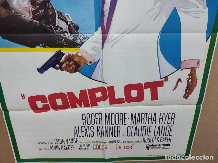 Cine: COMPLOT-15 ROGER MOORE MARTHA HYER POSTER ORIGINAL 70X100 ESTRENO - Foto 2 - 222048225