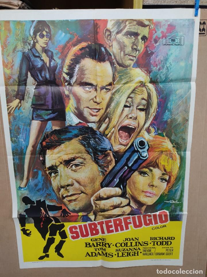 SUBTERFUGIO GENE BARRY JOAN COLLINS RICHARD TODD MAC POSTER ORIGINAL 70X100 (Cine - Posters y Carteles - Acción)