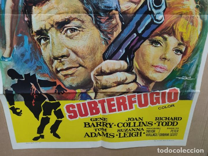 Cine: SUBTERFUGIO GENE BARRY JOAN COLLINS RICHARD TODD MAC POSTER ORIGINAL 70X100 - Foto 2 - 222048577