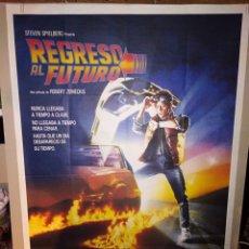 Cine: REGRESO AL FUTURO MICHAEL J. FOX SPIELBERG ZEMECKIS POSTER ORIGINAL 70X100. Lote 222049948