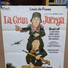 Cine: LA GRAN JUERGA LOUIS DE FUNES BOURVIL POSTER ORIGINAL 70X100. Lote 222050822