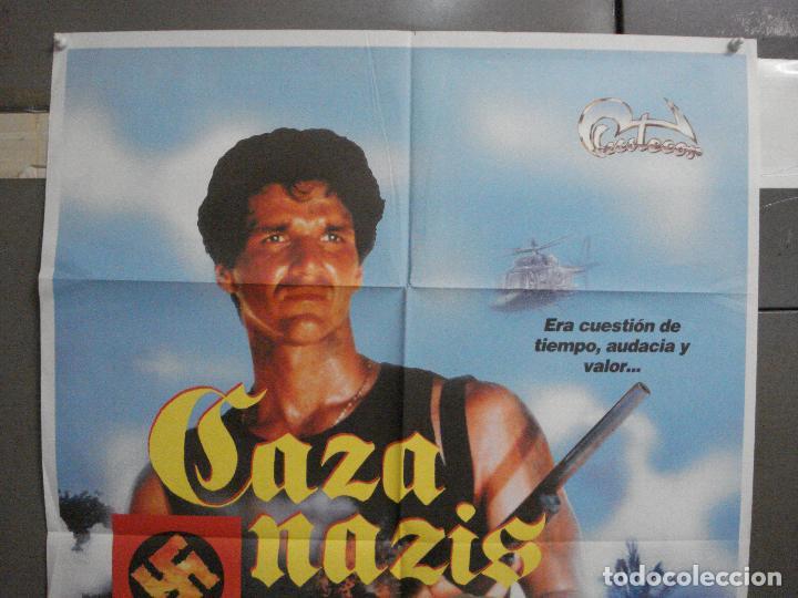 Cine: CDO 6482 CAZA NAZIS MAUD ADAMS STEWART GRANGER POSTER ORIGINAL 70X100 ESTRENO - Foto 2 - 222059246