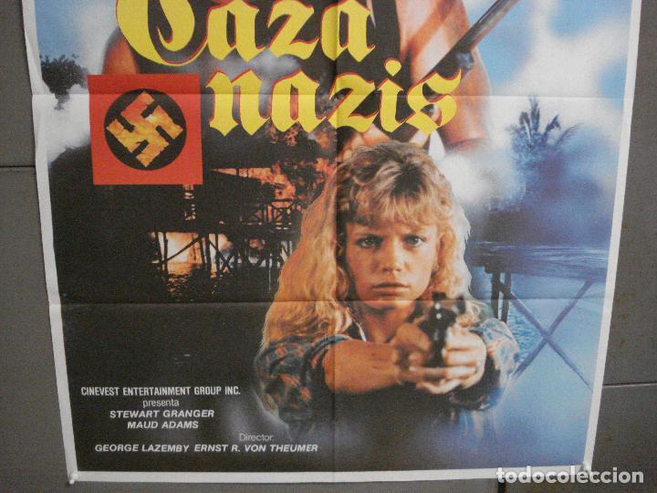 Cine: CDO 6482 CAZA NAZIS MAUD ADAMS STEWART GRANGER POSTER ORIGINAL 70X100 ESTRENO - Foto 3 - 222059246