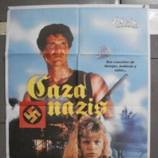 Cine: CDO 6482 CAZA NAZIS MAUD ADAMS STEWART GRANGER POSTER ORIGINAL 70X100 ESTRENO. Lote 222059246
