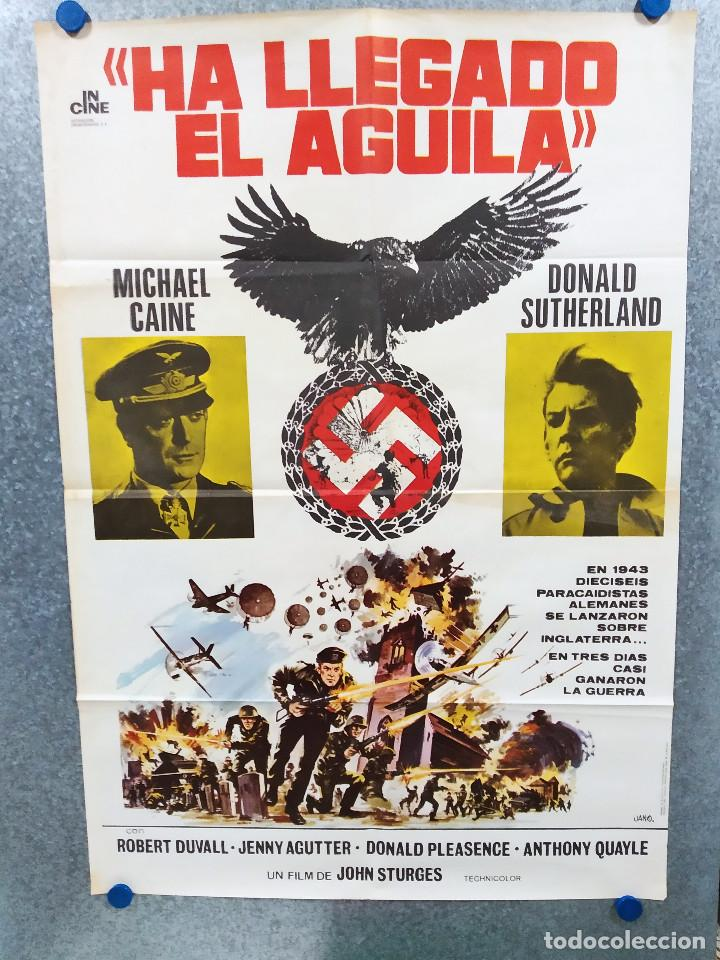HA LLEGADO EL ÁGUILA. MICHAEL CAINE, DONALD SUTHERLAND, ROBERT DUVALL. AÑO 1977. POSTER ORIGINAL (Cine - Posters y Carteles - Bélicas)