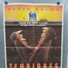Cine: TEMBLORES. KEVIN BACON, FRED WARD. AÑO 1990. POSTER ORIGINAL. Lote 222074255
