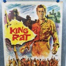Cine: KING RAT. GEORGE SEGAL, TOM COURTENAY, JAMES FOX, PATRICK O'NEAL AÑO 1967. POSTER ORIGINAL. Lote 222074621