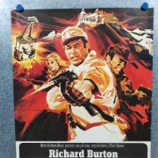 Cine: EL DESAFÍO DE LAS ÁGUILAS. RICHARD BURTON, CLINT EASTWOOD, MARY URE. AÑO 1969. POSTER ORIGINAL. Lote 222077550