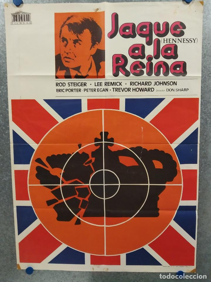 JAQUE A LA REINA. ROD STEIGER, LEE REMICK, RICHARD JOHNSON. AÑO 1976. POSTER ORIGINAL (Cine - Posters y Carteles - Acción)