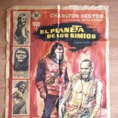 Cine: CARTEL DE CINE - POSTER PELICULA - EL PLANETA DE LOS SIMIOS - CHARLTON HESTON - 1968 - 100 X 70 CMS. Lote 222304215