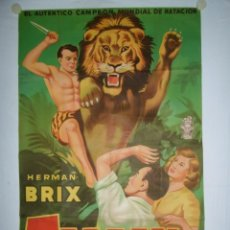 Cine: TARZAN EL INDOMABLE (HERNAN BRIX) - 105 X 70 - 1935 - LITOGRAFICO - EN 13 EPISODIOS. Lote 222307187