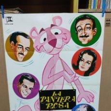 Cine: LA PANTERA ROSA PETER SELLERS DAVID NIVEN CAPUCINE CLAUDIA CARDINALE POSTER ORIGINAL 70X100. Lote 222319306